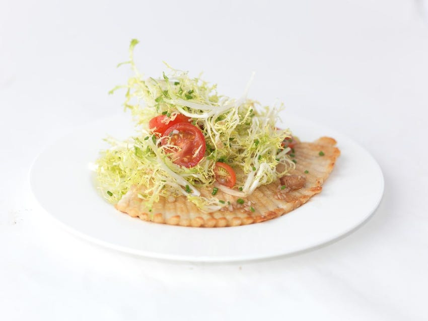 Skate Wing with Crispy Lardons and Frisée