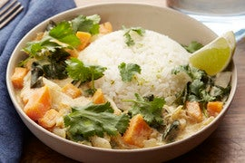 Thai Green Coconut Curry with Sweet Potato & Jasmine Rice
