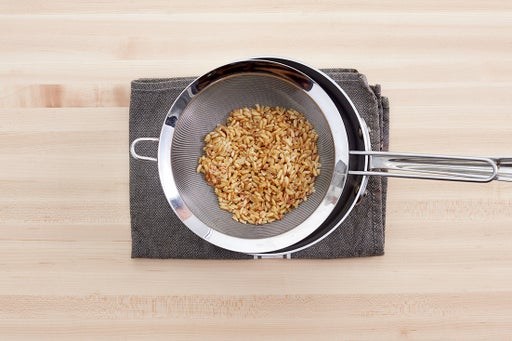 Cook the khorasan wheat: