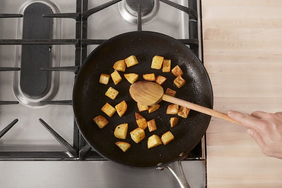 Cook the potato: