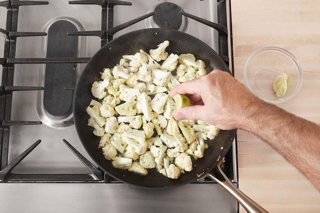 Start the cauliflower: