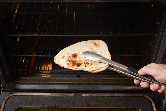 Toast the naan: