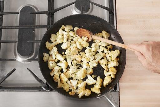Coat & crisp the cauliflower: