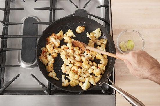 Finish the cauliflower & plate your dish: