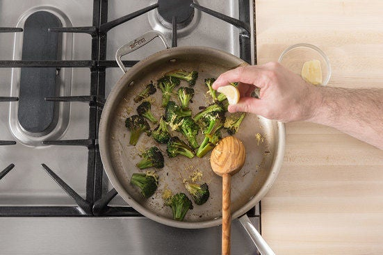 Cook the broccoli: