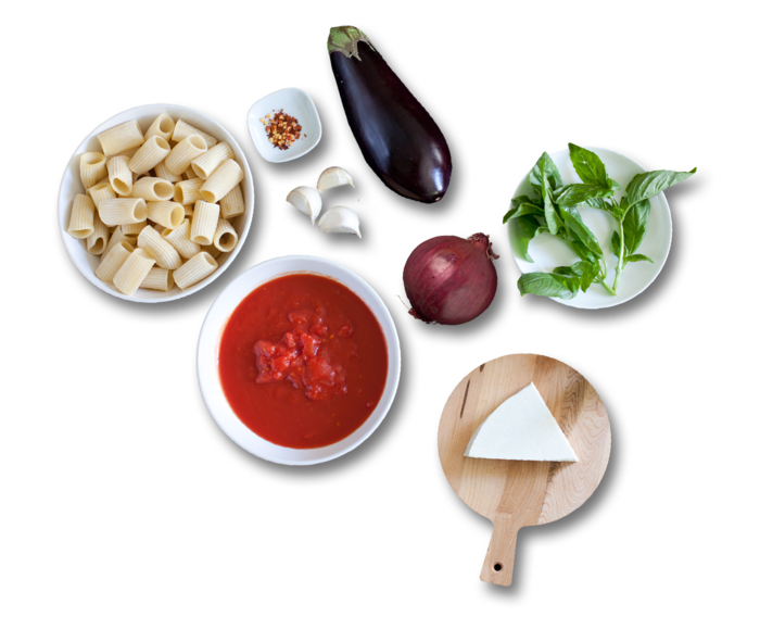 Rigatoni alla Norma  ingredients