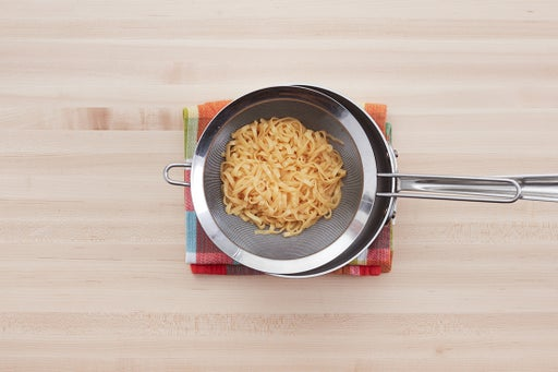 Cook the noodles & plate your dish: