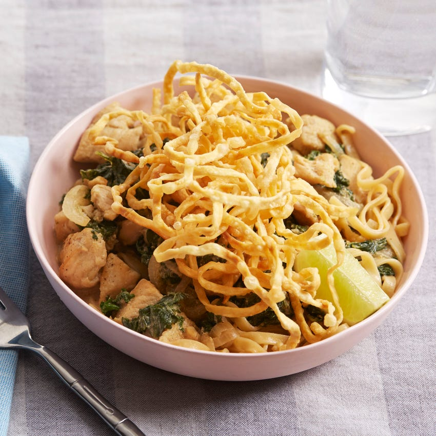 Chicken Khao Soi with Crispy Wonton Noodles