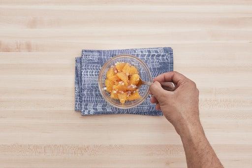 Marinate the orange:
