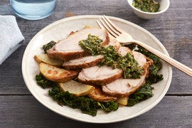 Tuscan-Style Roasted Pork with Kale & Salsa Verde