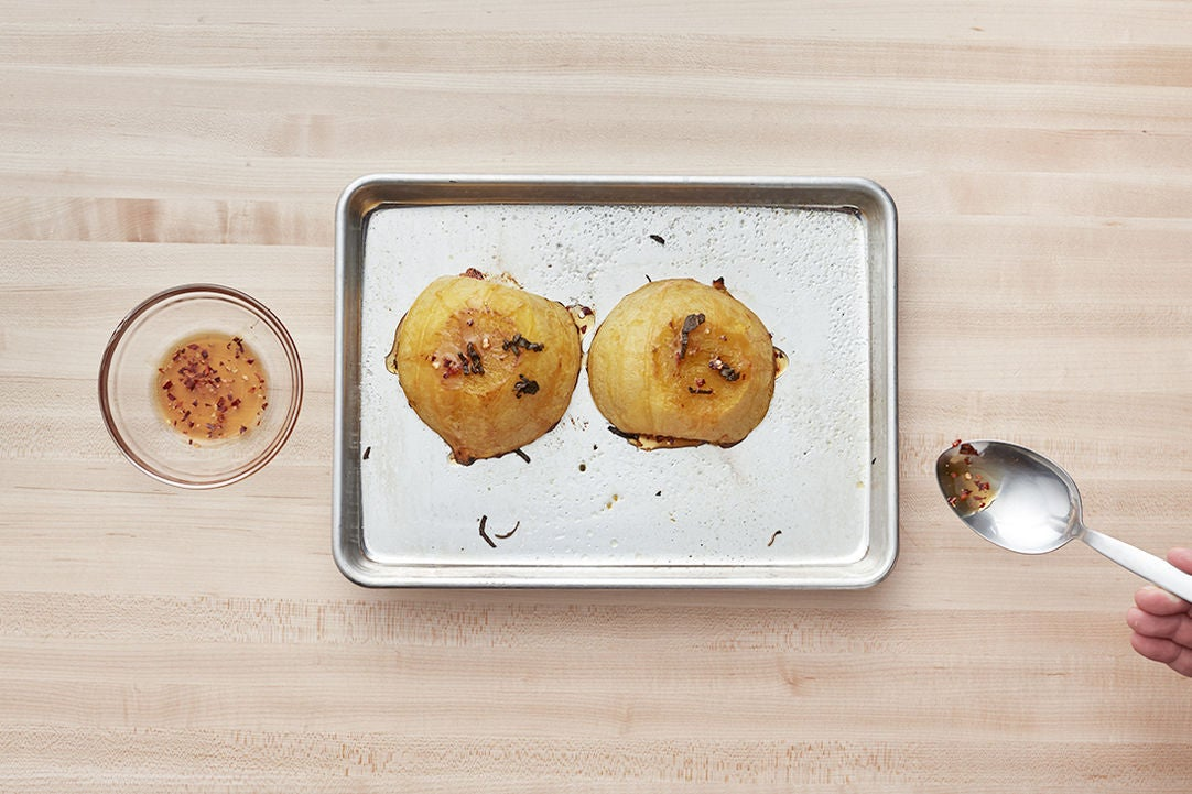 Finish the squash & plate your dish: