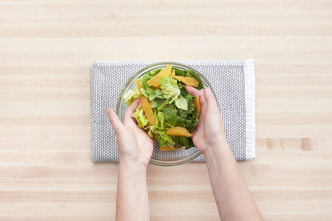 Make the salad & plate your dish: