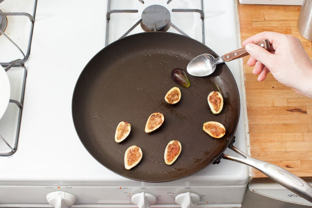 Sear the figs: