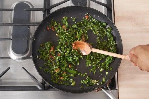 Cook the collard greens: