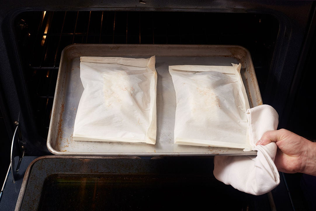 Bake the packets & serve your dish: