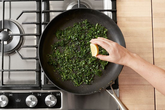 Cook the kale: