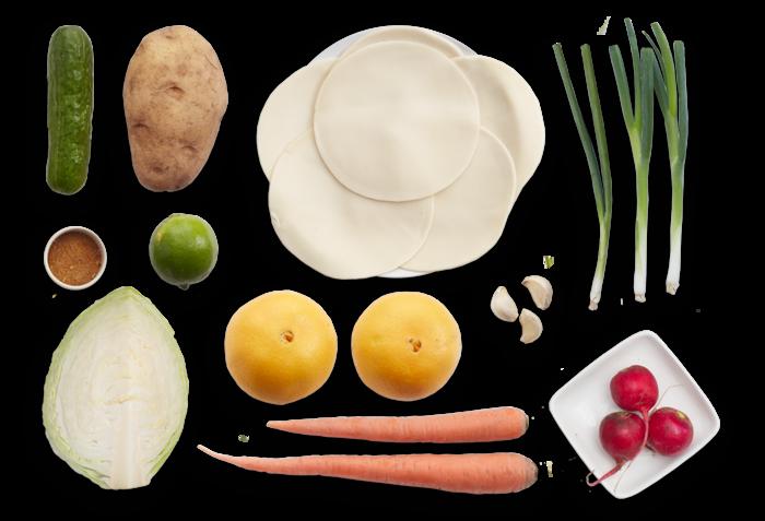 Jamaican-Style Vegetable Turnovers with Marinated Orange Salad