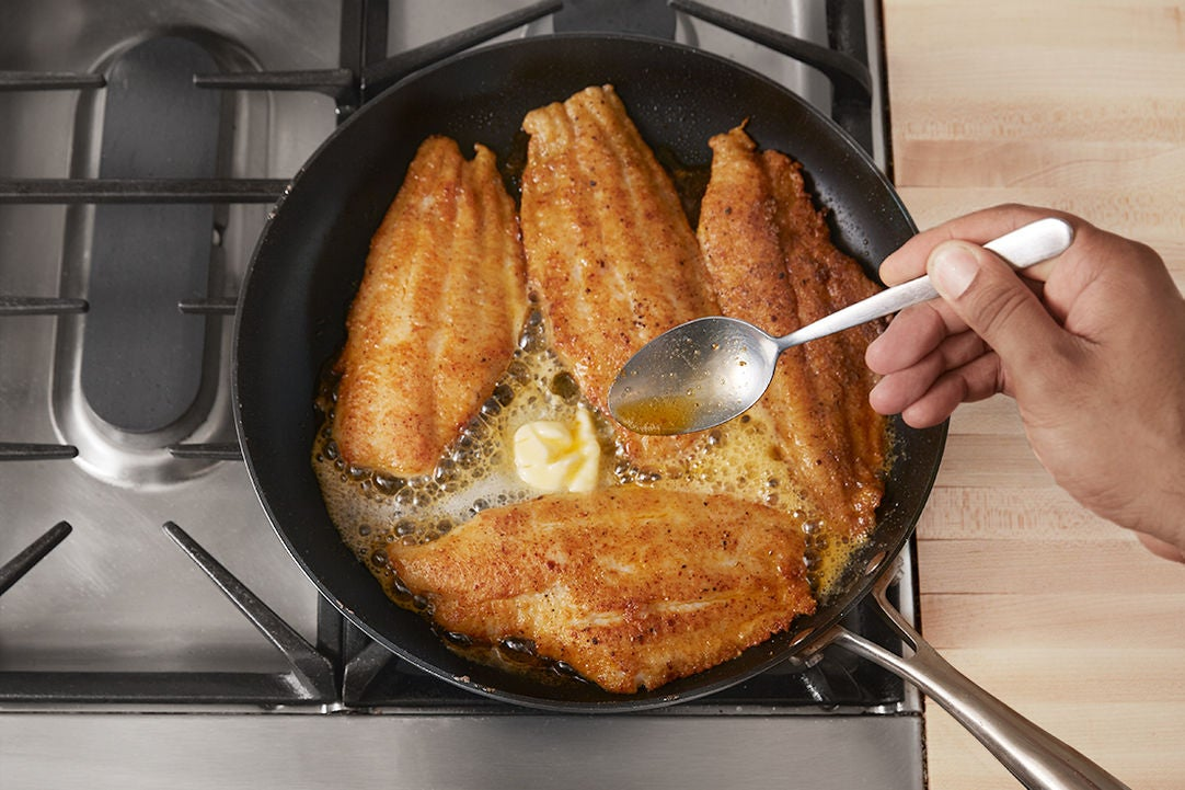 Cook the catfish & plate your dish: