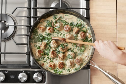 Add the kale & meatballs: