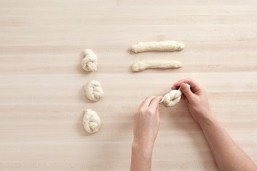 Make the garlic knots: