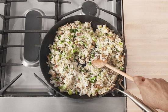 Finish the fried rice: