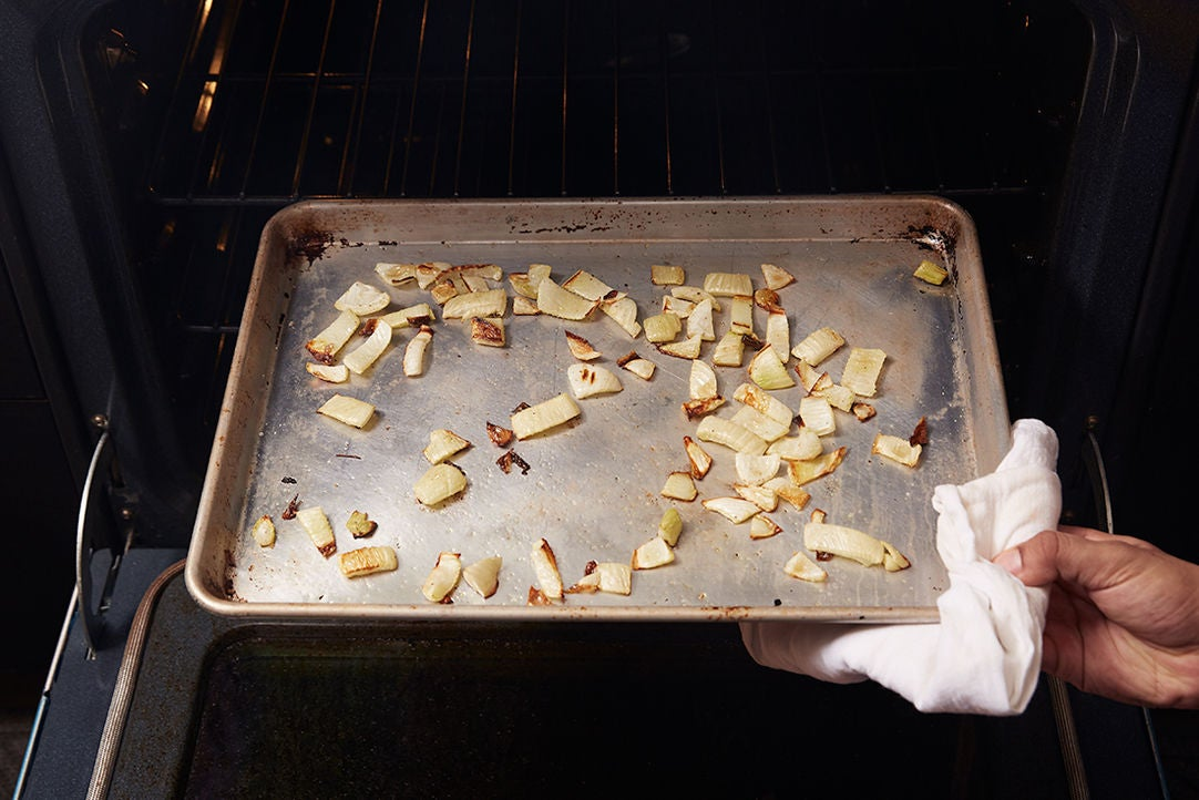 Roast the fennel: