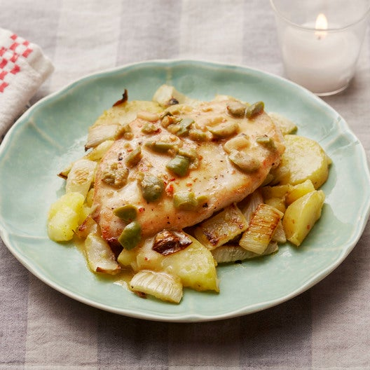 Chicken Paillard with Potato, Fennel & Meyer Lemon Sauce