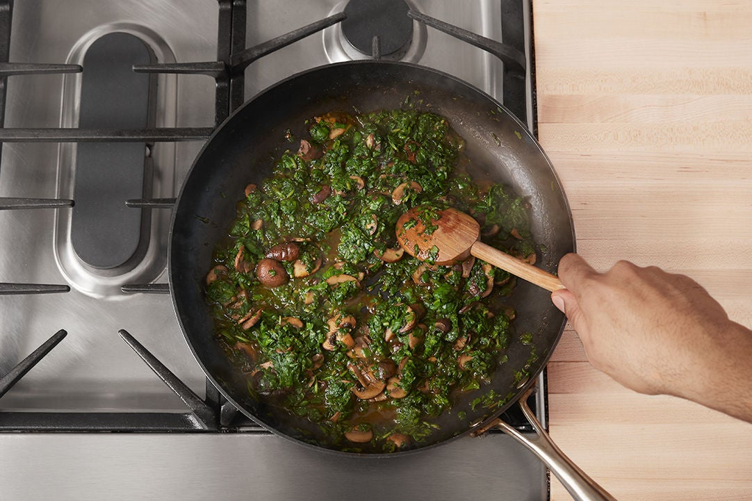 Add the spinach: