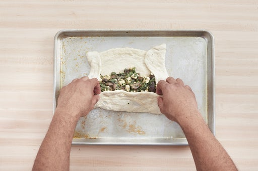 Assemble & bake the stromboli: