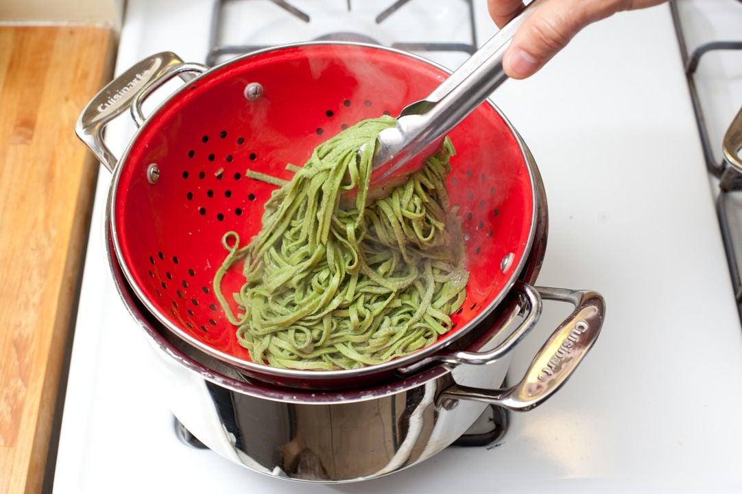 Boil the pasta: