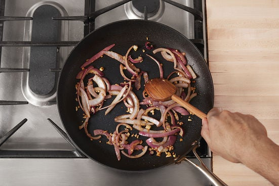 Cook the onion: