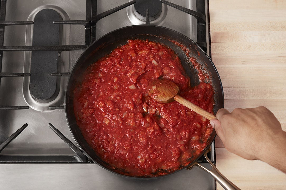 Make the sauce & start the meatloaf: