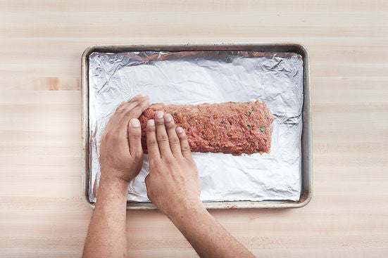 Form & bake the meatloaf: