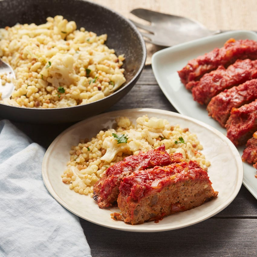 Italian Meatloaf with Cauliflower & Fregola Sarda Pasta
