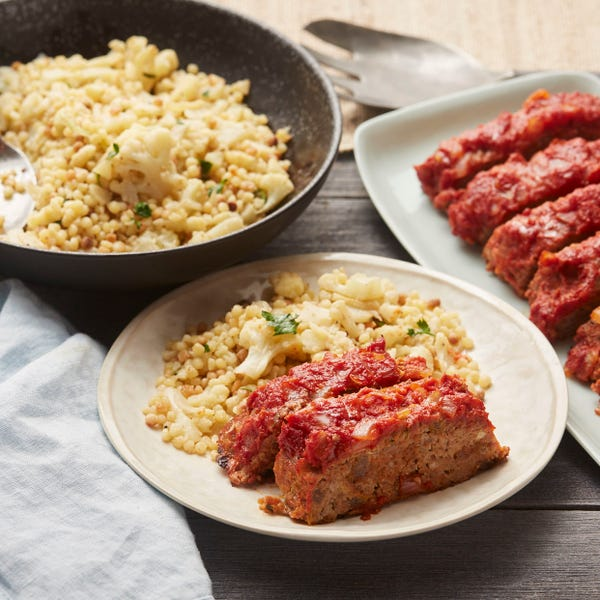 Italian Meatloaf with Cauliflower & Fregola Sarda Pasta