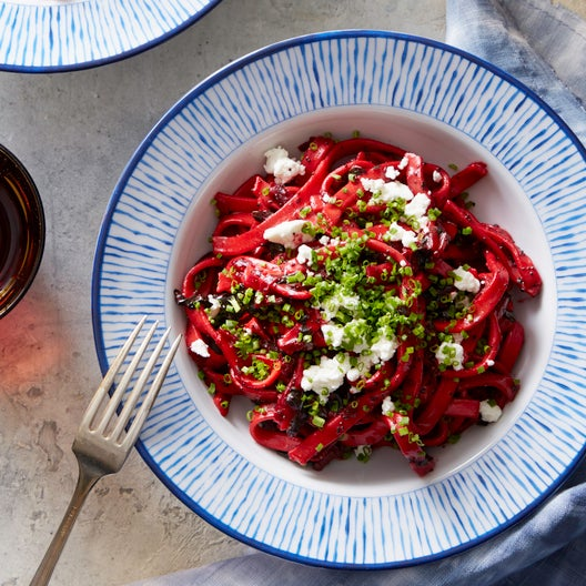 Recipe: Fresh Fettuccine with Beet, Goat Cheese & Poppy ...