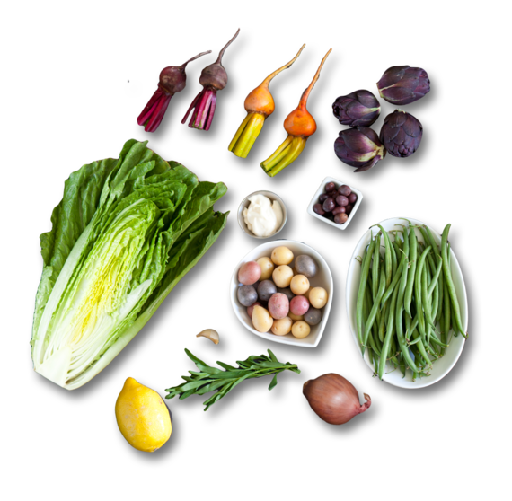 ... Vegetable Nicoise Salad with Creamy Dressing & Tarragon - Blue Apron