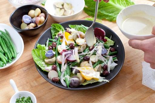 Assemble the salad & enjoy: