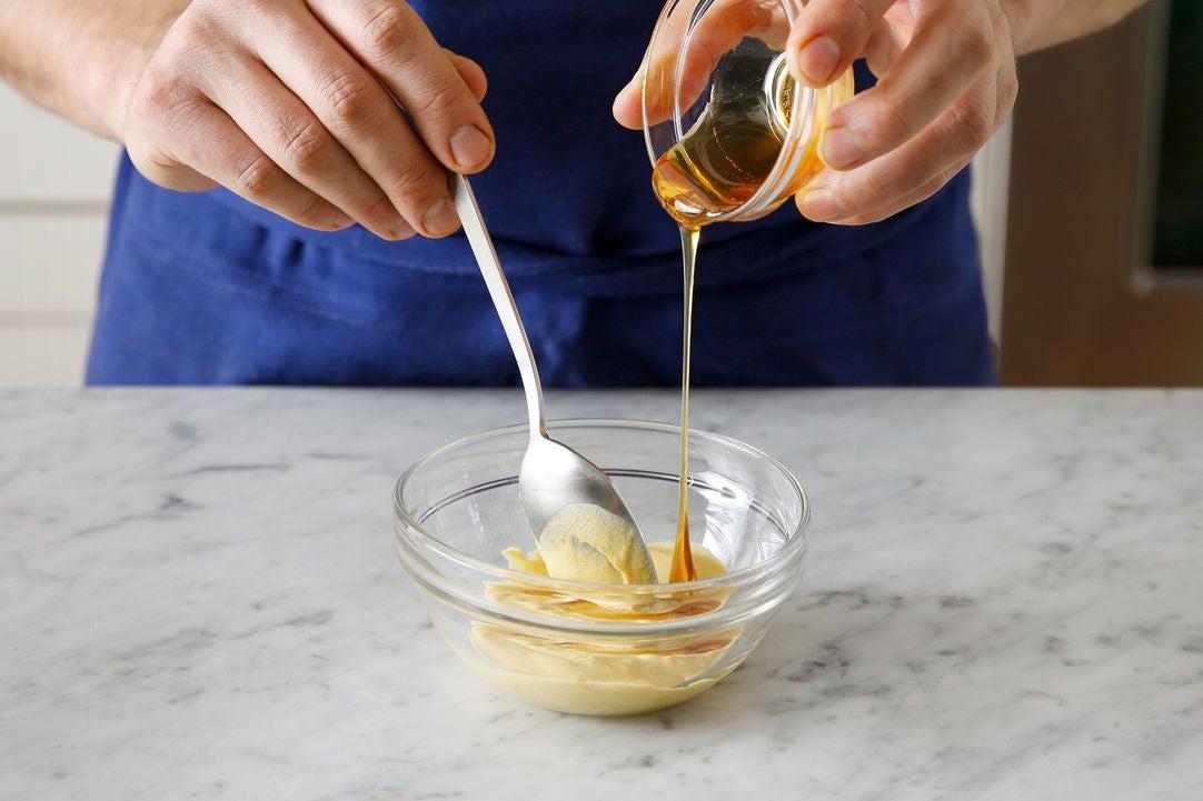 Make the honey-mustard sauce: