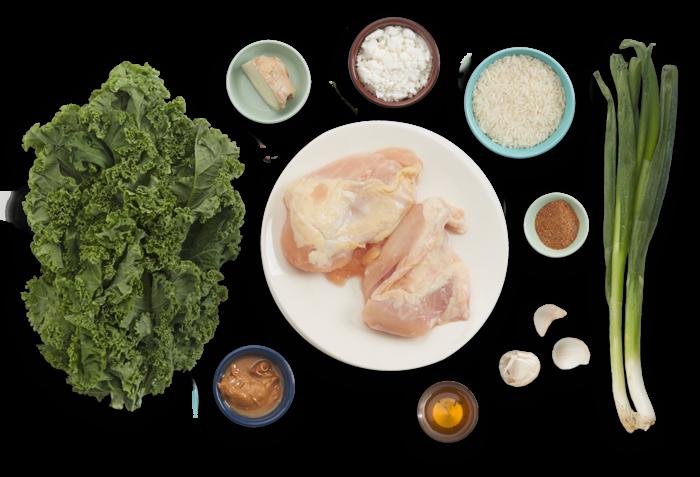 West African Peanut Chicken with Sautéed Kale & Rice ingredients