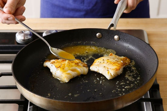 Cook & glaze the cod: