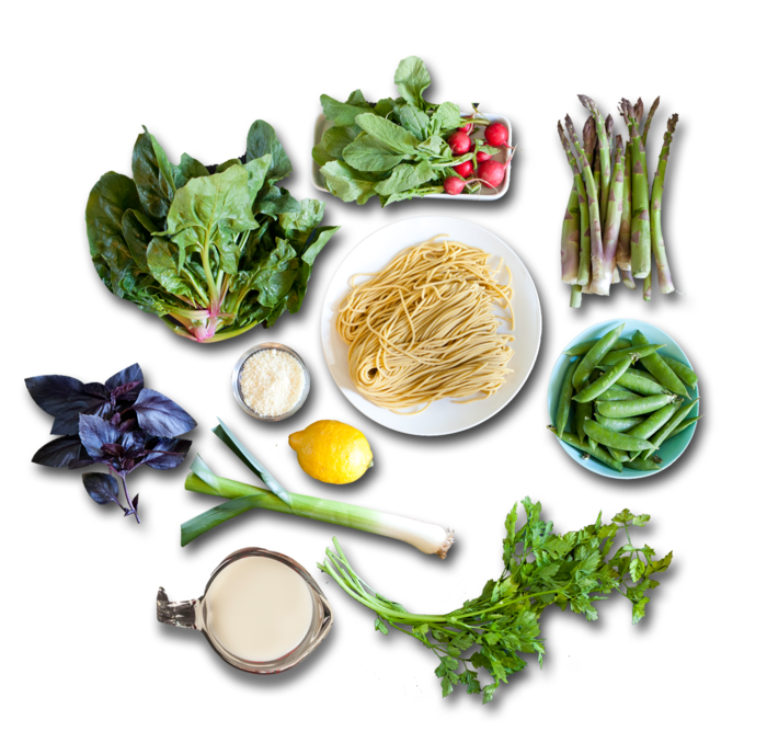 Fresh Pasta Primavera  ingredients