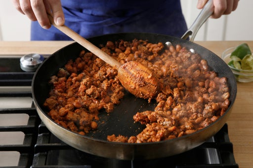 Cook the beef & beans: