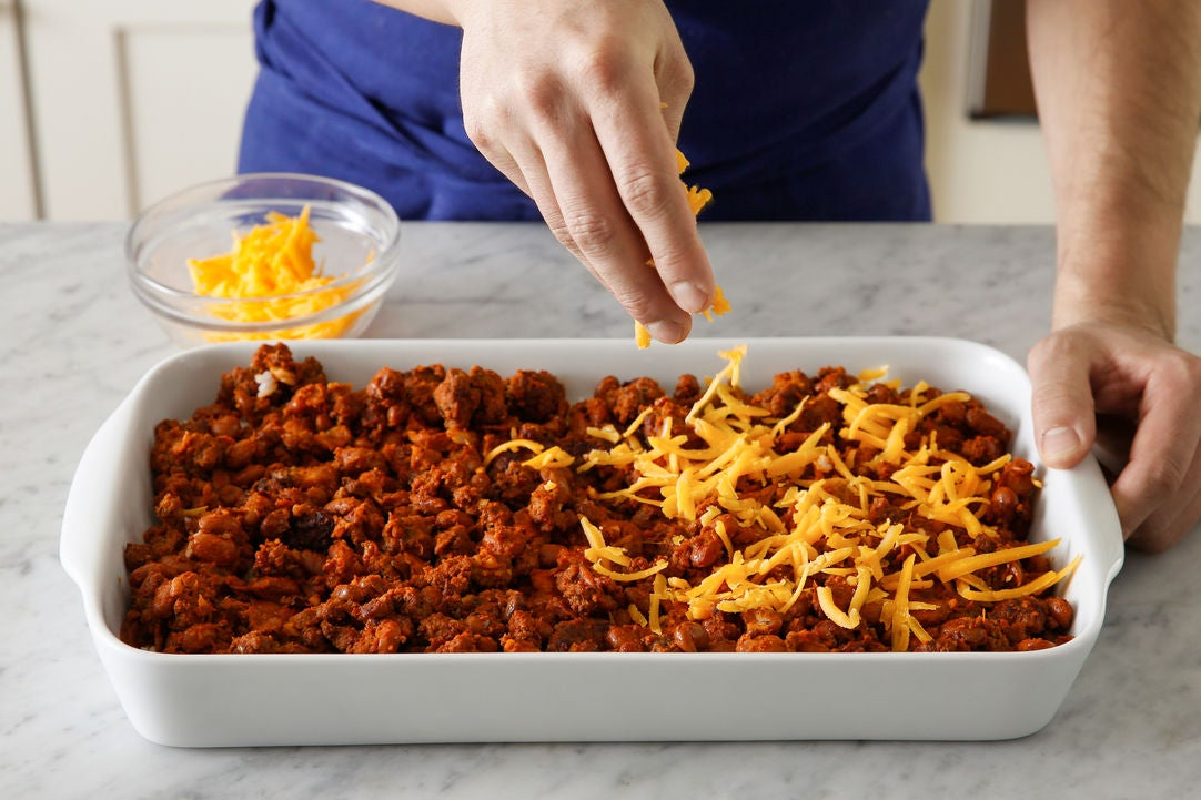 Assemble & bake the casserole: