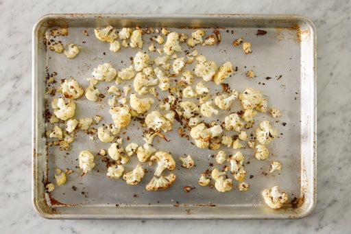 Roast the cauliflower:
