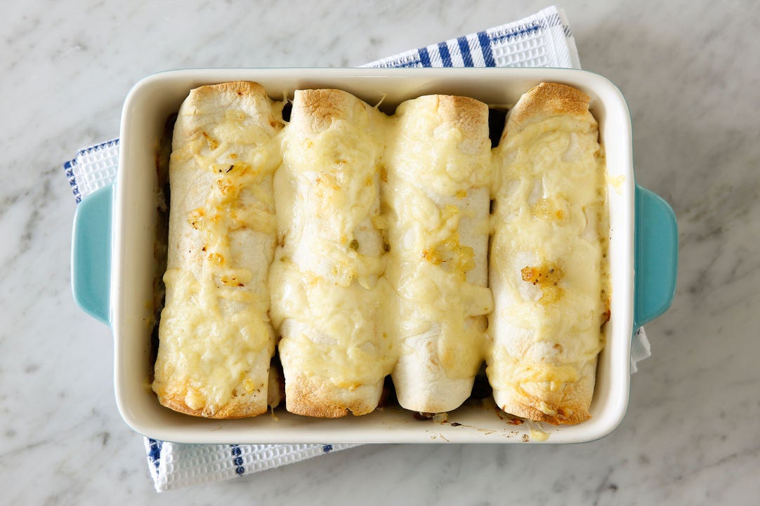 Bake the enchiladas & plate your dish: