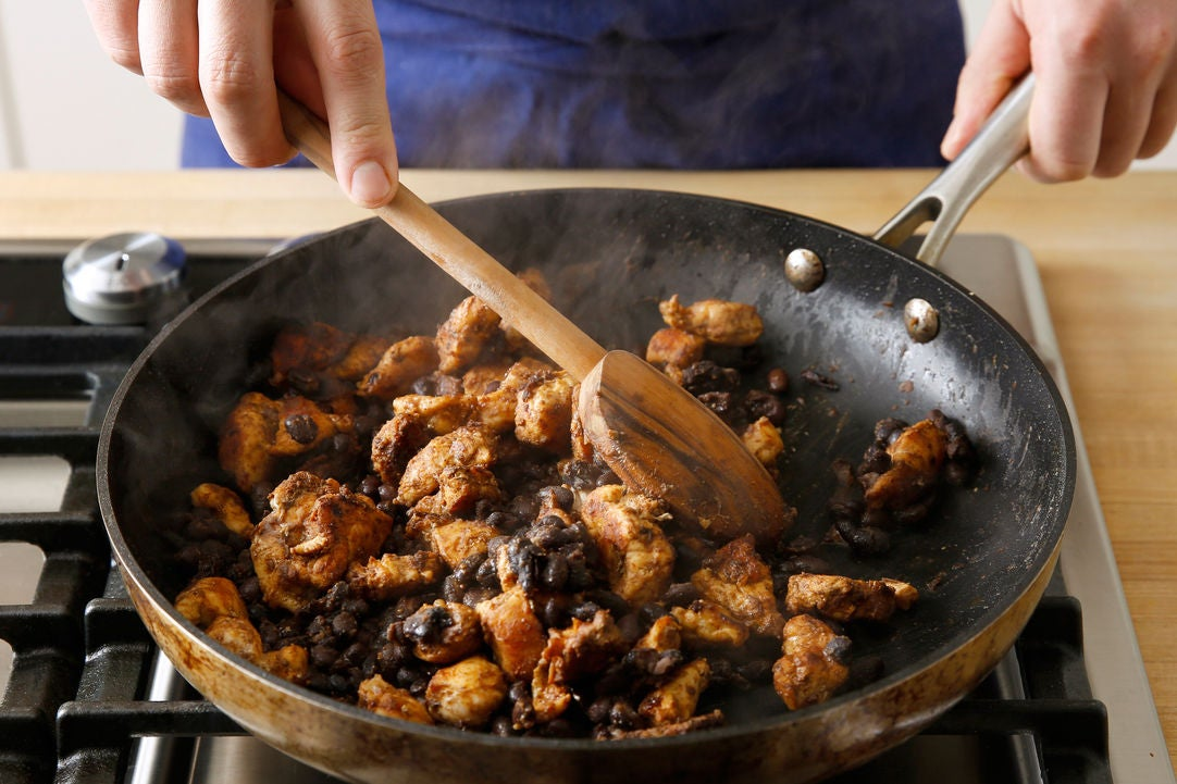 Cook the chicken & make the filling: