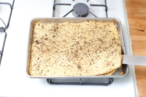 Bake the socca: