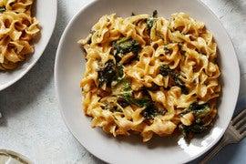 Sunchoke & Egg Noodle Casserole with Kale & Mornay Sauce