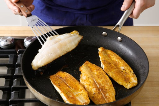 Cook the catfish & serve your dish: